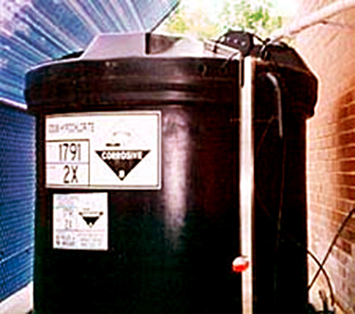 Hypochlorite tank for Swimming Pool