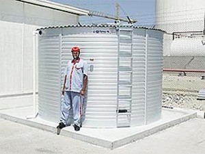 Levetator on Pioneer Water Tank in Dubai. United Arab Emirates