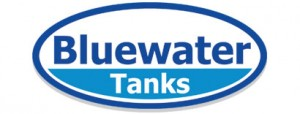 blue water tanks